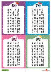 3.구구단 카드(6단~9단)