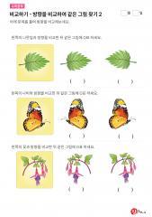 비교하기 - 같은 방향 찾기(나뭇잎, 나비, 꽃)