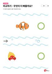 물고기와 소라게 중 무엇이 더 빠를까요?