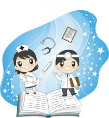 의사선생님과 간호사
