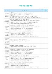 활동내용계획표