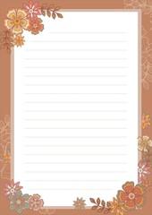 편지지(가을꽃)