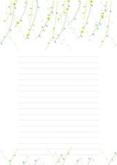편지지(봄새싹)