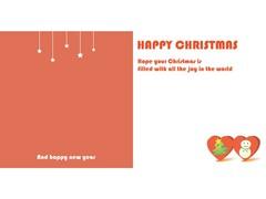크리스마스카드 (트리와 하트)