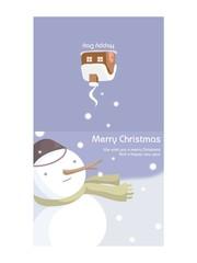 크리스마스카드 (눈사람)