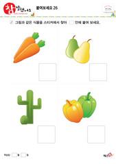 붙여보세요(식물, 채소, 과일)