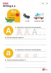 Writing A, a (알파벳 따라쓰기, 쓰기연습)