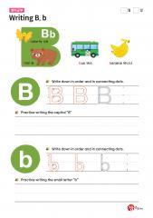 Writing B, b (알파벳 따라쓰기, 쓰기연습)