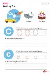 Writing C, c (알파벳 따라쓰기, 쓰기연습)