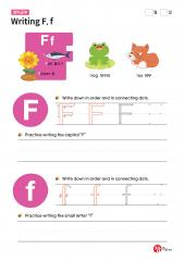 Writing F, f (알파벳 따라쓰기, 쓰기연습)