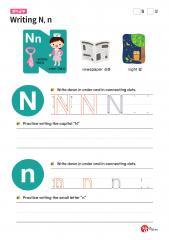 Writing N, n (알파벳 따라쓰기, 쓰기연습)