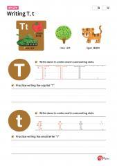 Writing T, t (알파벳 따라쓰기, 쓰기연습)