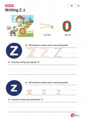Writing Z, z (알파벳 따라쓰기, 쓰기연습)