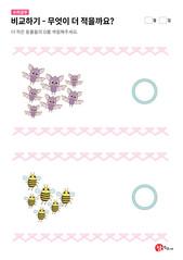 박쥐와 꿀벌 중 무엇이 더 적을까요?