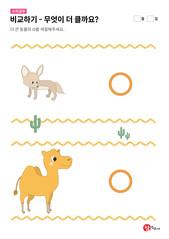 사막여우와 낙타 중 무엇이 더 클까요?