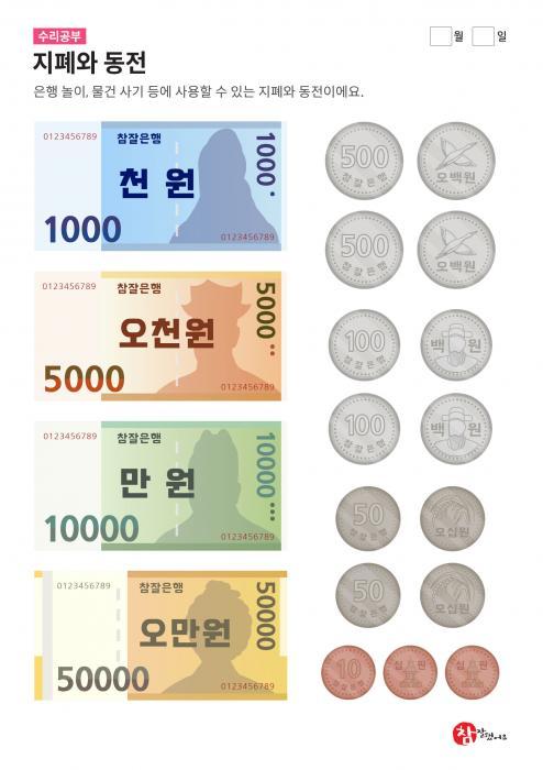 지폐와 동전