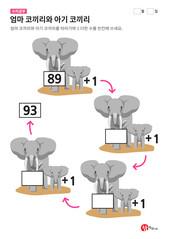 엄마 코끼리와 아기 코끼리