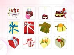 음식, 케이크, 선물, 생일