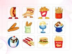 음식, 패스트푸드, 아이스크림, 햄버거