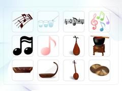 음악, 음표, 전통악기, 예술