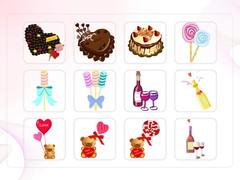 초콜렛, 사탕, 곰인형, 선물