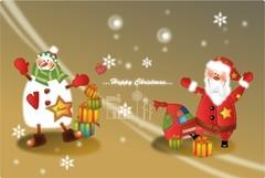 산타클로스와 눈사람