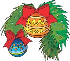 크리스마스장식, 종, 리본, 성탄절, 크리스마스 리스