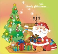 선물을 나눠주는 산타클로스3