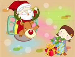 선물을 나눠주는 산타클로스10