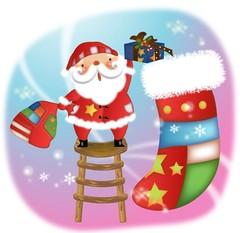 선물을 나눠주는 산타클로스5