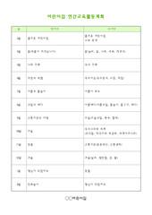[어린이집자료] 연간교육활동계획표