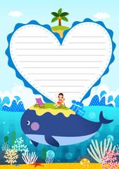 여름 편지지 (고래와 휴가)