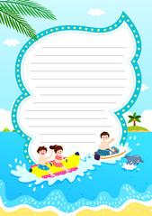 여름 편지지 (바나나보트)
