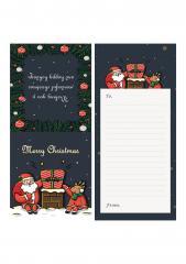 크리스마스 미니카드 (굴뚝과 선물)