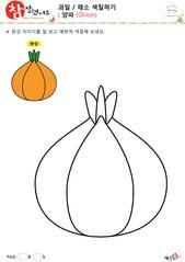 과일 / 채소 색칠하기 - 양파