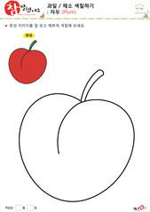 과일 / 채소 색칠하기 - 자두
