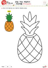과일 / 채소 색칠하기 - 파인애플
