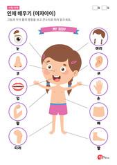 인체 배우기 (여자아이)